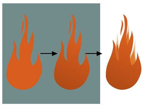 drawing vector flames