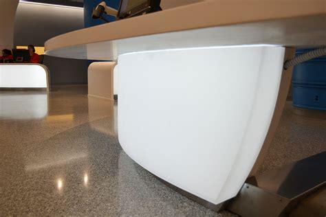 Backlit Curved 3form Reception Desks