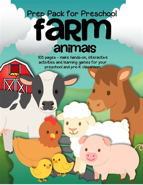 farm animals activities and centers for preschool 116 pages 700 | s502260936815463319 p37 i9 w1700