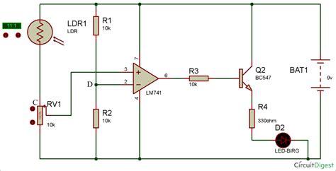 Light Detector Circuit Using Wheatstone Bridge