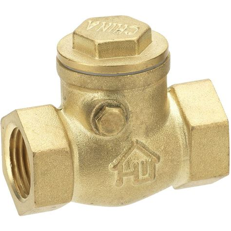 brass kitchen faucets everbilt 3 4 in brass fpt x fpt swing check valve 240 2