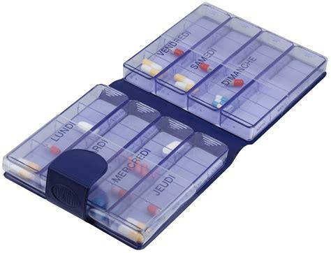 boite de rangement pour medicaments pilulier semainier