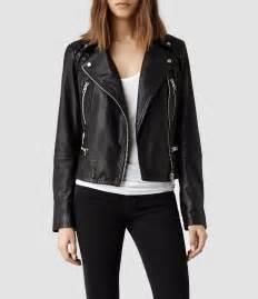 allsaints bleeker leather biker jacket in black lyst