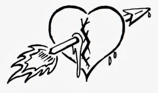 Broken Heart Tattoo Designs Drawings