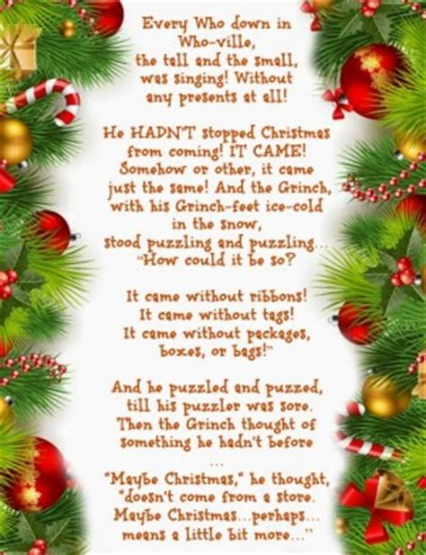 how grinch stole christmas quotes - Quotes From How The Grinch Stole Christmas