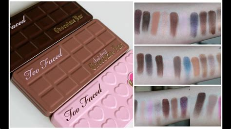 faced chocolate bar palettes review  swatches youtube