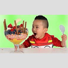 Giant Ice Cream Sundae Diy Fun With Chocolate Sweets Fruits Ckn Toys Youtube