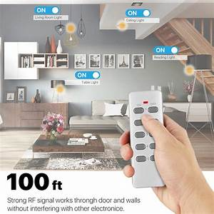5 Pack Remote Control Outlet Wireless Ac Power Outlets