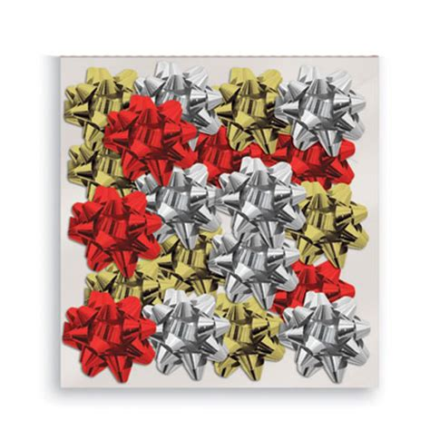 Assorted Metallic Christmas Gift Bows - Pack of 20 ...