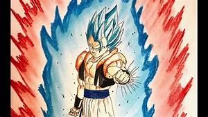 Speed Drawing Dragon Ball Gogeta SSJ Blue Kaioken - YouTube