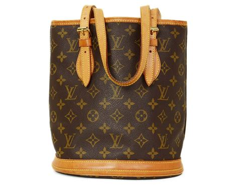 louis vuitton monogram bucket bag pm  stdibs