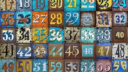 Numbers Rust Texture Dampak Negatif Colorful 1080p