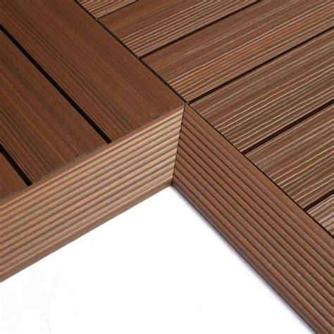 Ipe Deck Tiles Home Depot by Newtechwood 1 6 Ft X 1 Ft Deck Composite Deck Tile