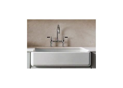 Top Mount Self Trimming Apron Front Sink by Faucet K 6489 0 In White By Kohler