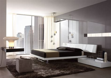 White Minimalist Bedroom Interior Design With White Bed On