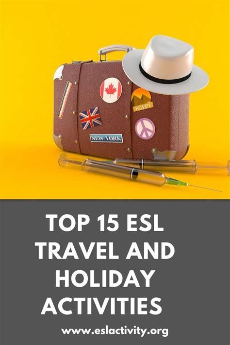 travel  holidays esl activities games worksheets