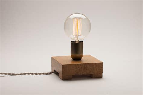 edison bulb table l edison l oak wood l table l edison bulb l