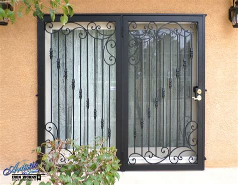 wrought iron patio security doors wrought iron security