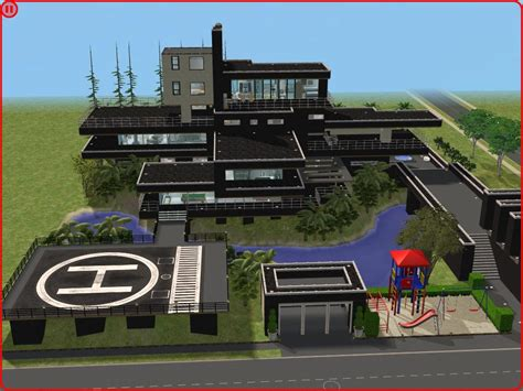 pictures modern mansion sims 2 modern black hillside mansion by ramborocky on