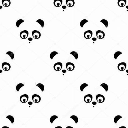 Panda Pattern Seamless Patroon Achtergrond Animal Fondo