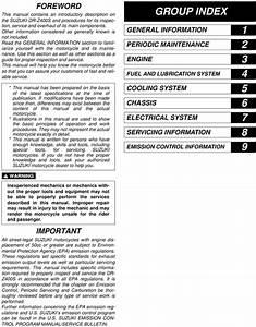 2007 Suzuki Drz400s Service Repair Manual Download