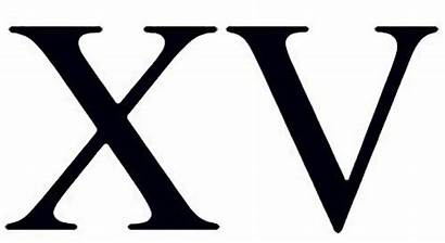 Roman Xv Numerals Number Tattoo Numeral Fifteen