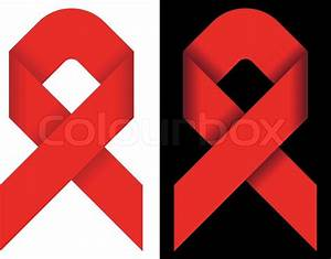 Red Ribbon As Symbol Of Solidarity Of People Living With