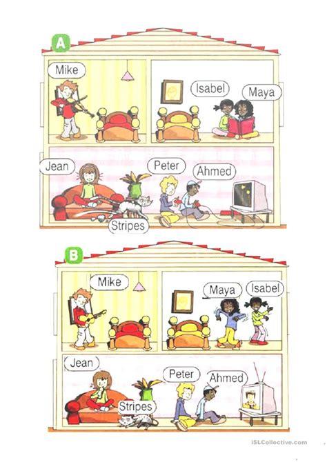 speaking activity find differences worksheet  esl