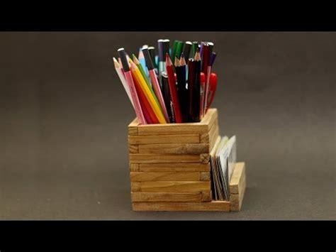diy wooden pencil holder youtube