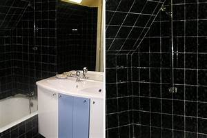 salle de bain carrelage noir With carrelage salle de bain noir brillant