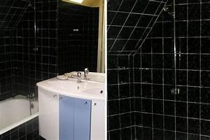salle de bain carrelage noir With carrelage noir salle de bain