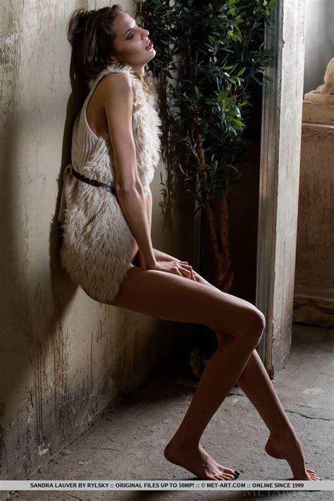 Sexy Babe Sandra Lauver Teasing On A Garden Chair Photos