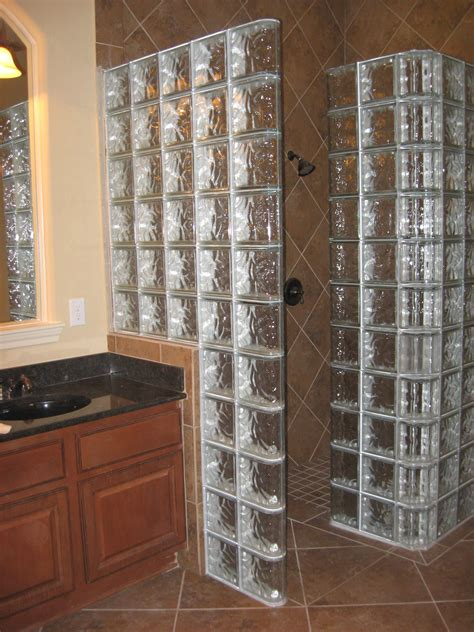 Walk In Shower Materials by Walk In Corner Shower Glass Block Corner Shower