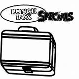 Coloring Pages Lunchbox Colouring Special Lunch Box Clipartmag sketch template
