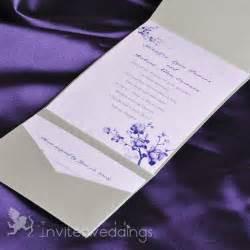 wedding pocket invitations beautiful flowers silver pocket wedding invitations iwps067 wedding invitations