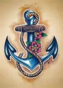 Old school anchor tattoo design | Tattoos. | Pinterest ...