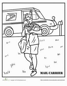 Mail Carrier   Worksheet   Education.com