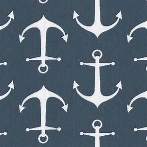 Navy Anchors Fabric by the Yard Navy Fabric Carousel