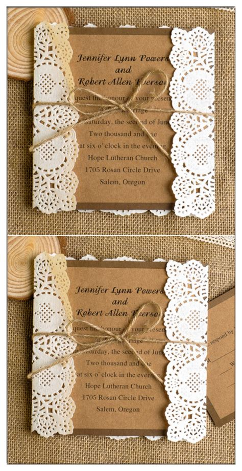 top 10 chic country rustic wedding invitations with free