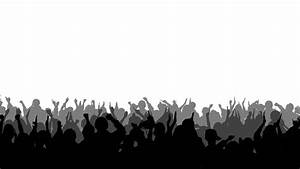 Cheering Crowd Silhouettes 2: Royalty-free video and stock ...