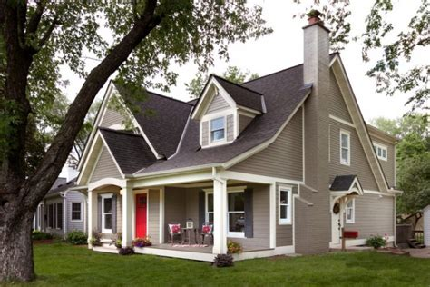 charming exterior paint colors with brown roof ideas for