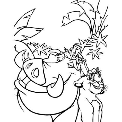 disegni da colorare disney re disegno di pumba re da colorare per bambini
