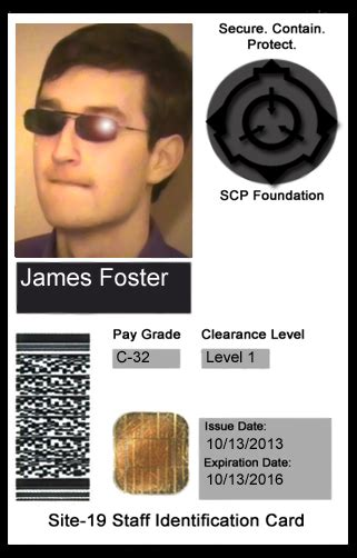 scp foundation id cards scp foundation