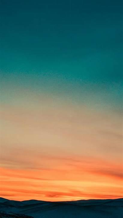 Nature Sky Sunset Iphone Orange Gradation 4k