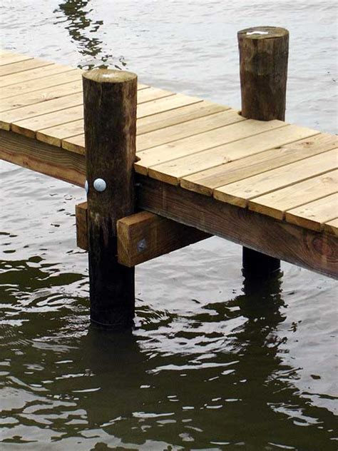 Boat Lift Piling Spacing by Wood Pilings