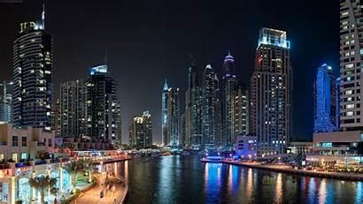 Dubai Night Landscape Wallpapers Desktop Resolution Backgrounds