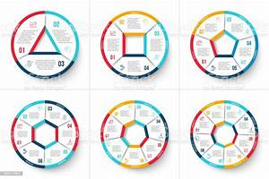 Vector Circle Infographic Template For Cycle Diagram Graph