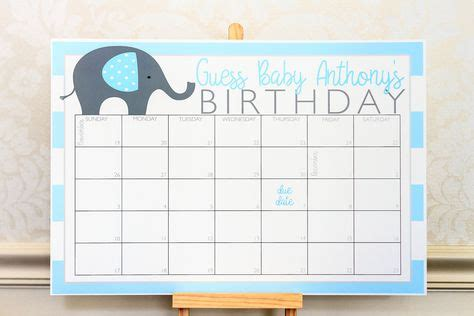 personalized guess  babys birthday calendars