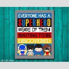 Superhero Wall Art Superhero Room Decor Superhero Classroom