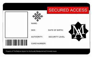 id card template cyberuse With identification badges template